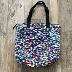 kate spade quilted nylon tote with zip top